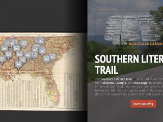 screenshot of Southern Trail StoryMap