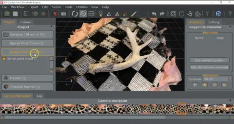 Antler model created in 3DF Zephyr